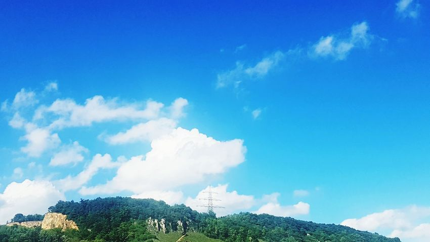 Cloud - Sky Sky Blue Nature Outdoors Hill Tea Crop Freshness Beauty In Nature Day No People Water City