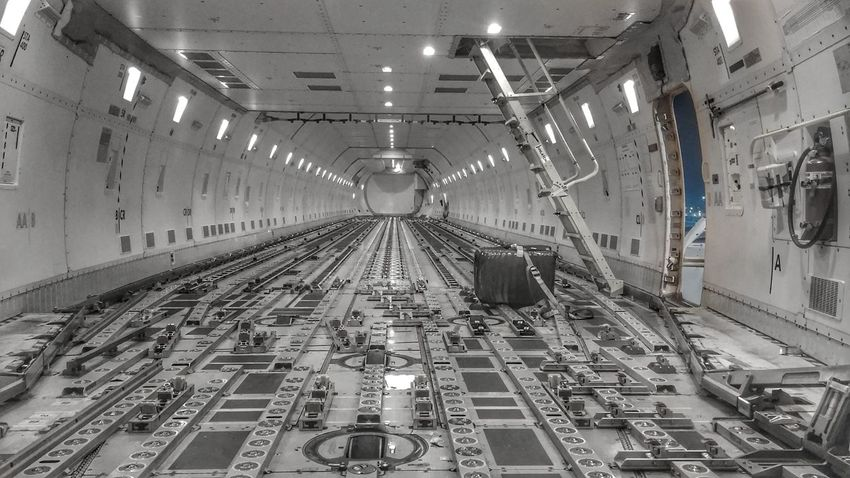 747 Indoors  Eastbound Plane Cargo Aircraft Freighter