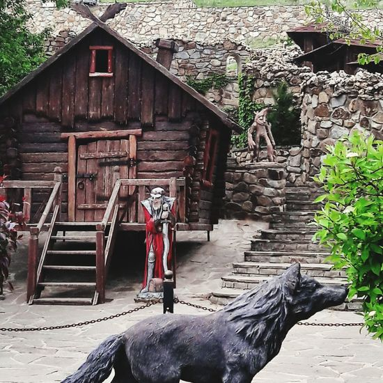 сказка избушка избушканакурихножках баба-яга сказки хижина волк фольклор
