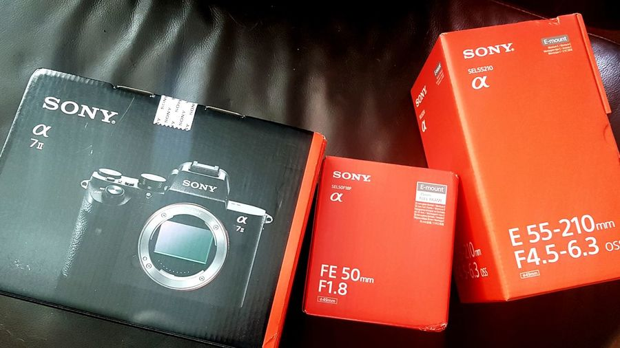 My new kit. A7ii 50mm F1.8 50mm Sony SONY A7ii Sony Alpha Mirrorless New Kit Red Close-up Online Shopping  Home Shopping Buying Spending Money