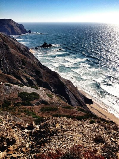 Portugal Sea And Sky Coastline Coast Sea Seaside Wildpotography Love Sudoeste WestCoast Picoftheday Wildlife Wildlife & Nature Nature Photography Portugal_em_fotos