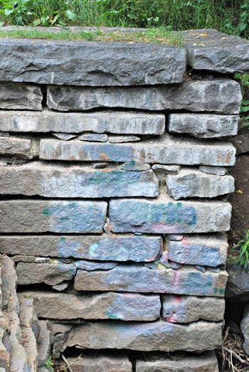 Stone Wall Rocks Stone Wall - Building Feature Outdoors Pillar