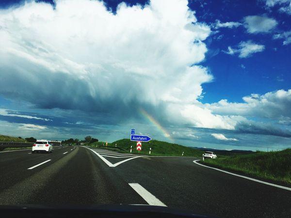 Rainbow Sky Sky Cloud - Sky Blue Sky Blue Offroad Exit