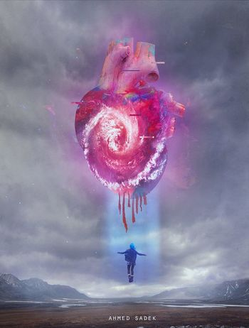 Digital Art Dreamlike Heart ❤ Love Photomanipulation Photoshop Ps25under25 Sky