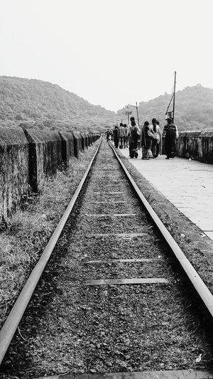 Hii Miles Away Railroad Track Outdoors Transportation Hello World Xperiaphotography Traveldiaries Throwback2016 Travel Photography MumbaiDiaries -Into the world of Unknown. Miles Away