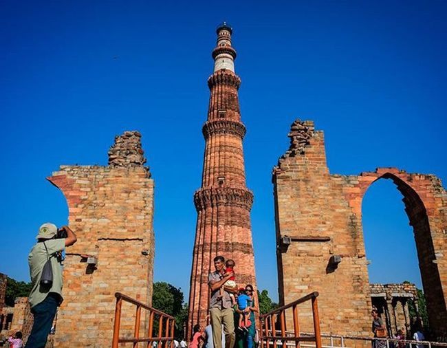 """I've been to Qutub Minar many a times. But never had it seemed so different. So beautiful and surreal; because this time I went solo, with a camera in hand. Lesson learned. Delhi QutubMinar GoSolo Travel India Photographer Nikonphotography Architecture Brokenarchitecture Incredibleindia Mughalarchitecture Mughal"