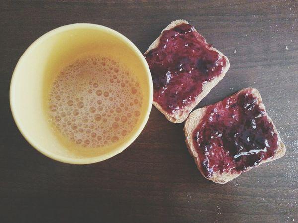 Good Morning:)♡ Breakfast Juce Marmelade Very Good