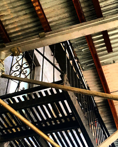 Construction Architectural Feature Architecture Building Exterior Building Story Built Structure Construction Day Directly Below Full Frame Geometric Shape Low Angle View Modern No People Tall Wrought Iron