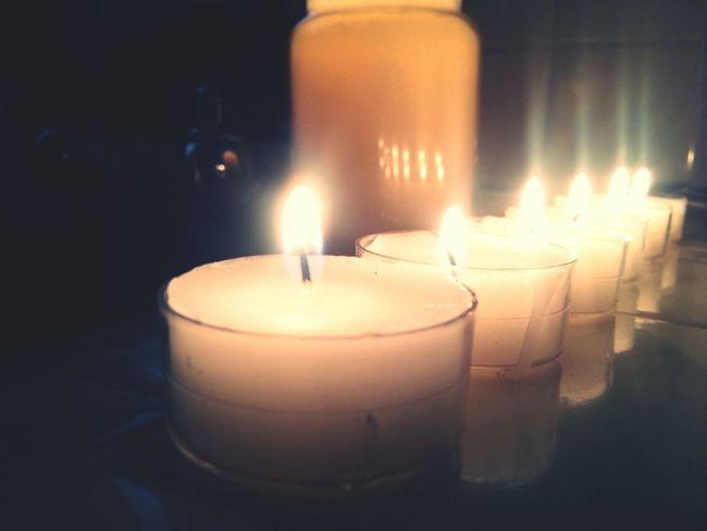My photo ❤ Fire Candles Tea Lights Light