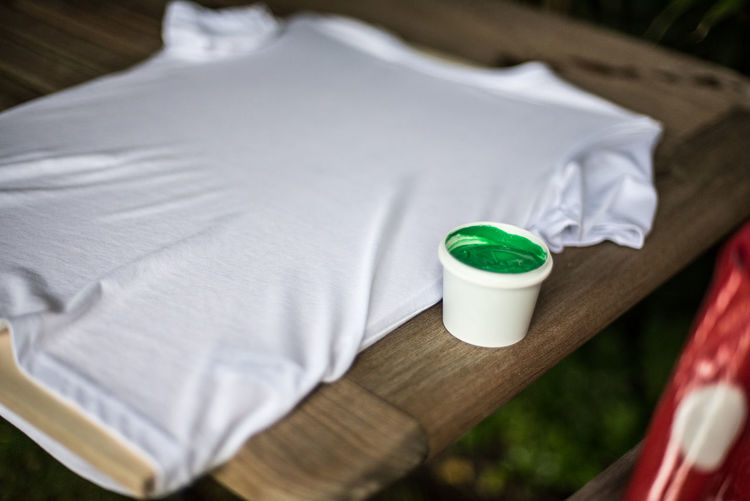 Paintball shirt Paint Paintball Close-up Clothes Day No People T-shirt Table White