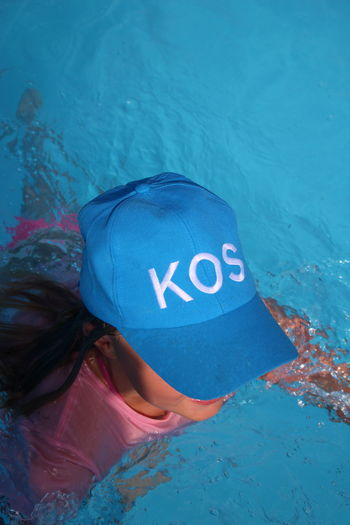 Blue Cap Capture The Moment Casual Clothing Close-up Day EyeEm Gallery Eyeem Vacation EyeEmBestPics Funinwater Greece GREECE ♥♥ Leisure Activity Lifestyles Nature Semester Summertime Water Water_collection