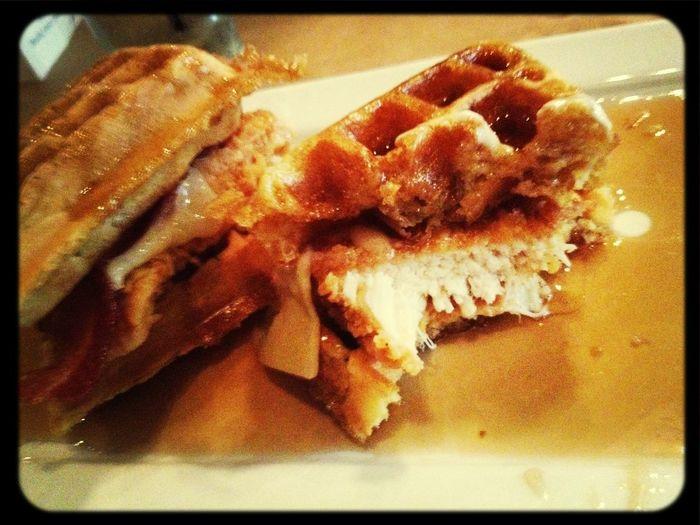 Chicken Waffles Sandwiches