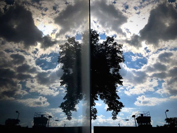 Reflection_collection Urban Landscape Cloud - Sky Sky Tree Nature Built Structure Architecture Building Exterior Reflection