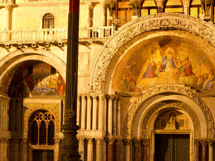Basilica di San Marco in Venice/Italy Architectural Feature Architecture Art Attraction Basilica Basilica Di San Marco Cathedral Church Churches Cities City Cityscape Cityscapes Column Culture Heritage Famous Place Historical House Facade House Facades Italy Landmark Night Photography Night Shot San Marco Square Venice