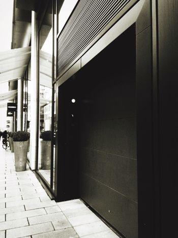 Entrance Parking Garage Blackandwhite Photography