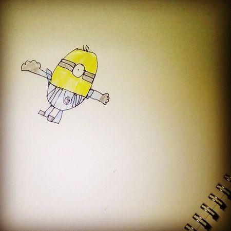 Isang cute na minion drawing ni Zildjian lol 😁 di ko lang sure kung kelan nya ginawa. Nakita ko lang sa sketch pad ko may hinahanap kasi akong note, bandang gitna pa talaga kaya na surprise ako haha 😝👀 Proudmum Drawing Minion  Cute Instalove Photooftheday IloveyouZildeeko Sweetdude 😊👌👦👼💗💓