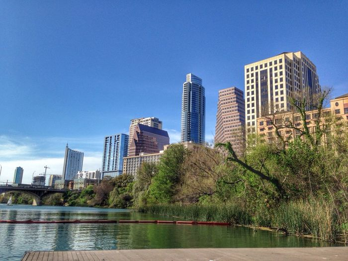 Austin City Skyline Texas Taking Photo