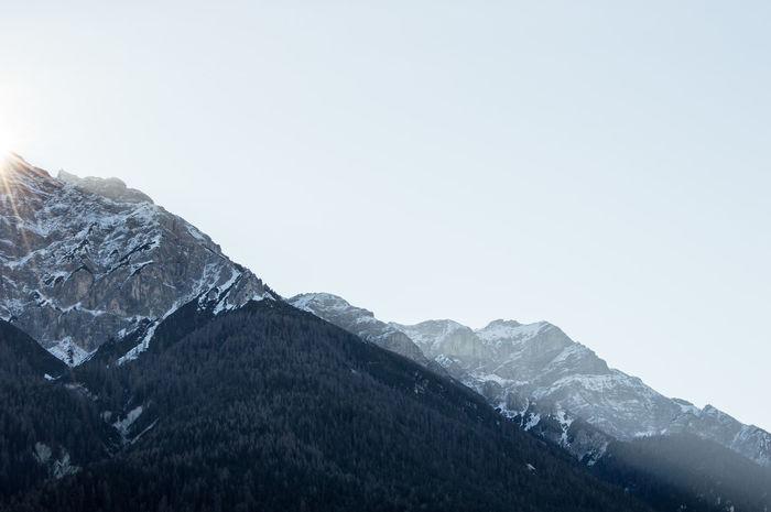 Blue Blue Sky Magestic Mountain Mountain Range Sun Sun Rays Vast