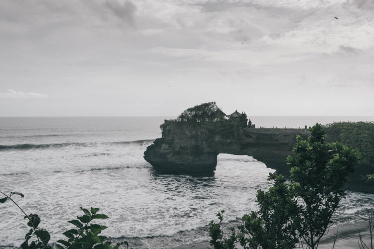 Tanah Lot bali Bali Bali, Indonesia Beauty In Nature Cliff Day Horizon Over Water Nature No People Outdoors Rock - Object Scenics Sea Sky Temple Tranquil Scene Tranquility Water Been There.