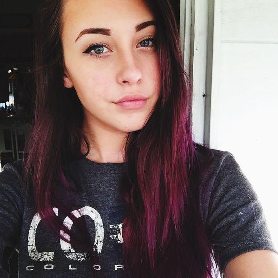 Selfie Purple Hair