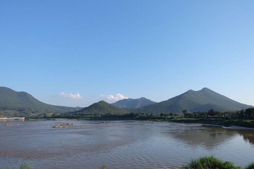 Nice place Mountain Water Beauty In Nature Blue Green Mountain Range Sky River Life No People Loei Thailand
