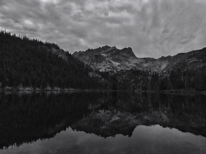 Sardine Lake Lake Reflection Water Sky Nature Beauty In Nature Scenics Tranquility Tranquil Scene Outdoors Mountain Range Rugged Terrain Nightphotography Shades Of Winter