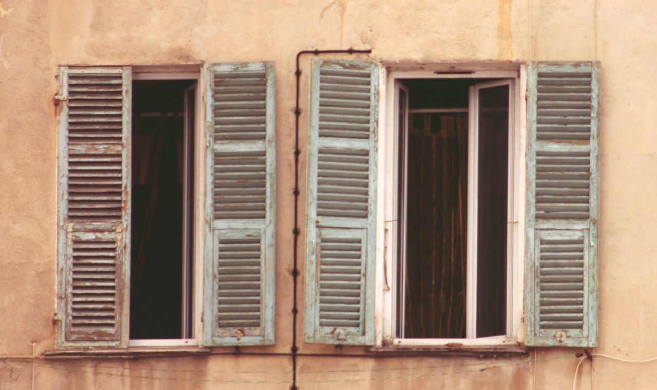 window, architecture, shutter, built structure, building exterior, no people, day, outdoors, close-up