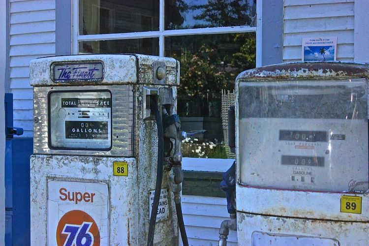Rustic Vintage Small Town Feel Gas Pump