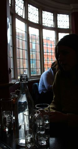 Indoors  Window Adult One Person Sitting Bar - Drink Establishment Women Day Togetherness Girls Pub Trasparence