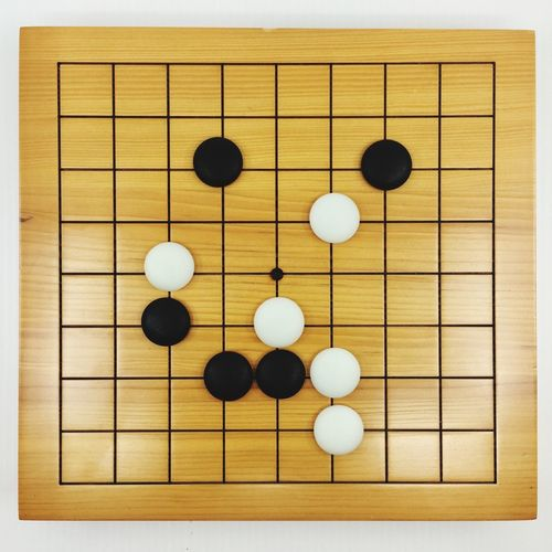 Go game Blank Go Game Chinese Go Game Indoors  Still Life Studio Shot High Angle View Large Group Of Objects Close-up Sport Wood - Material