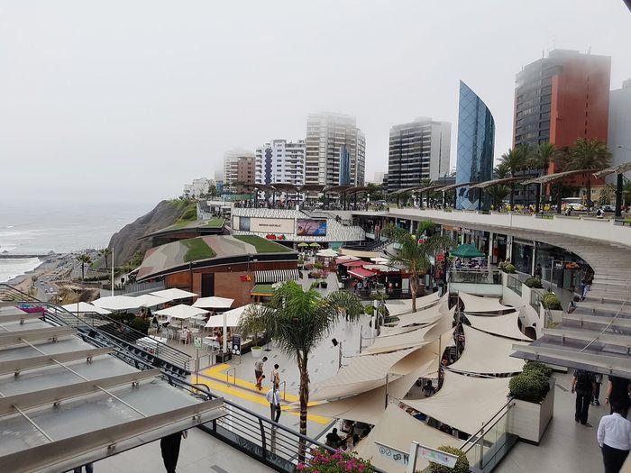 Peru Traveling Perú ❤ Perù 🇵🇪 Lima Sea City Water Urban Skyline Skyscraper Modern Cityscape Sky Architecture Building Exterior