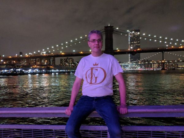 New York Brooklyn Bridge / New York Manhattan New York New York City Architecture Casual Clothing Front View Illuminated Leisure Activity Looking At Camera Nature Night One Person Outdoors Portrait Real People River Standing Three Quarter Length Transportation Water Young Adult Young Men