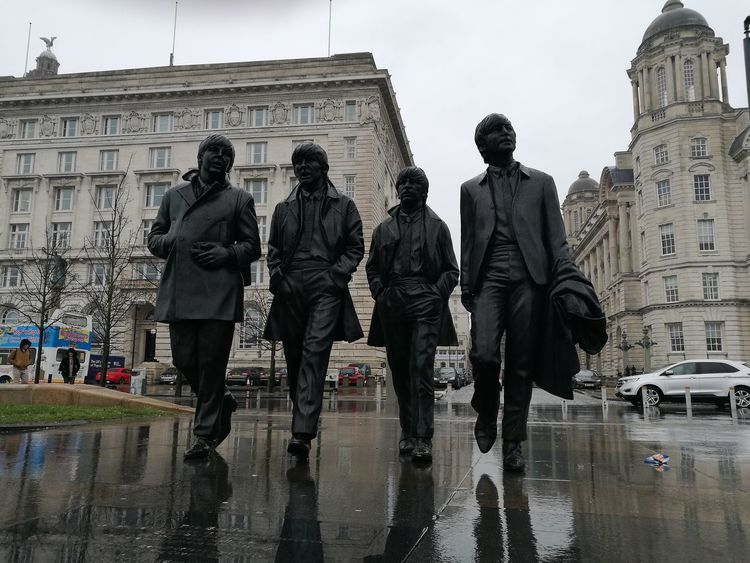 City Architecture Outdoors Day Rain Sky City Architecture Built Structure Rainy Days Rain The Beatles John Lennon Paul Mccartney George Harrison Ringo Starr Liverpool