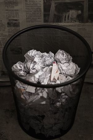 Bin Paper Close-up Crumpled Crumpled Paper Garbage Wastepaper Basket Garbage Can Indoors  Responsibility No People Day