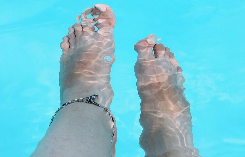 EyeEmNewHere EyeEm Best Shots EyeEmBestPics Hello World EyeEm Gallery Swimmingpool Funnytime Relaxing Vacations Disconnect Young Women Close-up Blue Background Foot Toe Floating In Water Feet The Still Life Photographer - 2018 EyeEm Awards