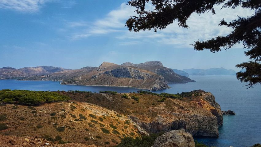Aegean Sea Clouds And Sky Pine Tree Blue Sky Greece GREECE ♥♥ Greece Photos Leros Leros Island Leros Greece Island Greece Islands Water Mountain Sea Beach Tree Sky Landscape Cloud - Sky Horizon Over Water Seascape Rocky Coastline Calm Ocean Bay Of Water Coastline Coastal Feature Pine Cone Evergreen Tree