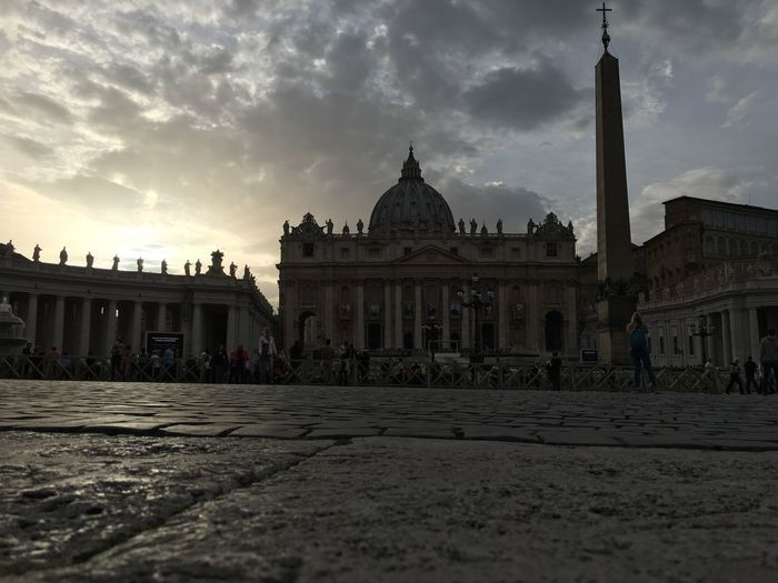 Building Exterior Built Structure Architecture Dome Travel Destinations Façade Famous Place Tourism Place Of Worship Spirituality City History Angles Sky Religion Rome Italy St Peters Basilica Vatican Surface Level Ancient World Heritage Architectural Column