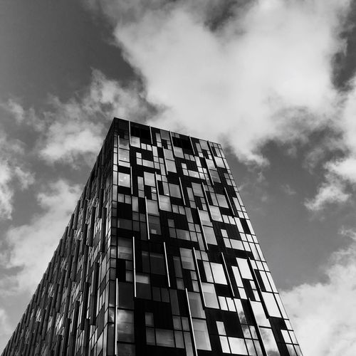 Low Angle View Sky Architecture Building Exterior Modern No People Built Structure Outdoors Height Day Glass Modern Streetphotography London Clear Sky City