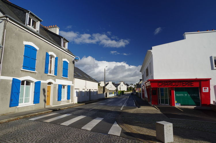 BLEU BLANC ROUGE Brittany Architecture Blue White Red City Colorful No People Sky Street Town