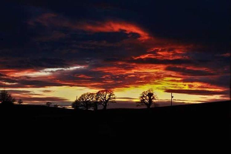 My Bedroom View Sunset Firesky Fire Nature Myownphotography