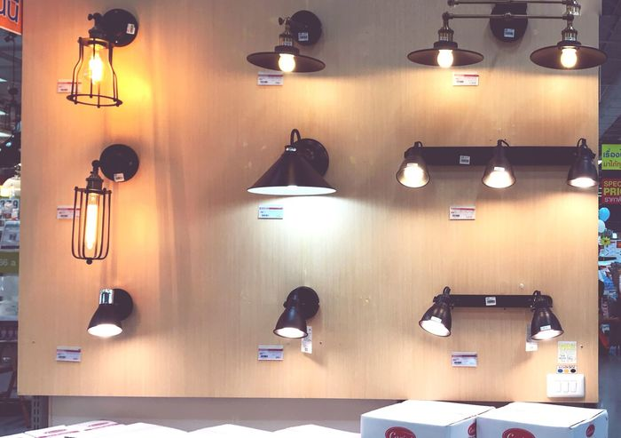 EyeEm Selects Lighting Equipment Indoors  Illuminated Electric Lamp Wall - Building Feature No People Technology Arts Culture And Entertainment Business Electric Light Light - Natural Phenomenon Large Group Of Objects Retail  Hanging Table Decoration Pendant Light Store Furniture Luxury