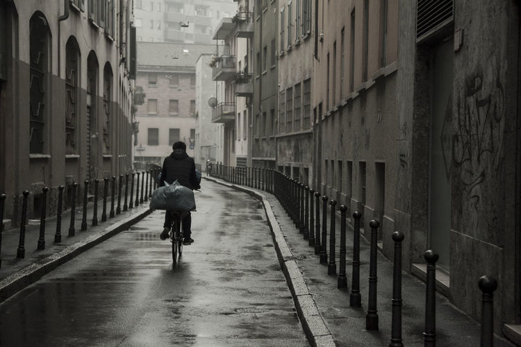 After The Rain Bike Life Biker Blackandwhite Daily Life Italian Lifestyle Life In Motion Lifestyles Mornings Streetlife Streetphoto_bw Walking The Street Photographer - 2017 EyeEm Awards