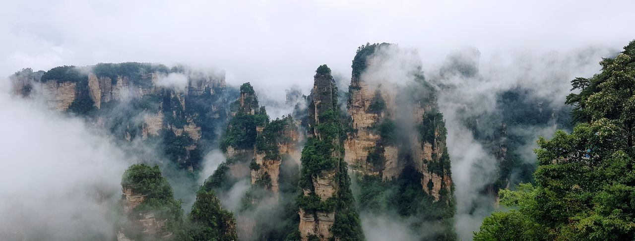 Panoramic view of wulingyuan scenic area.