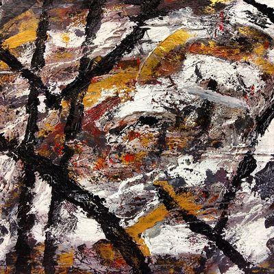 Sin título (brocha y espátula) Art Arte Abstract Negua