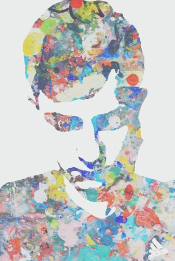 Multi Colored One Person Teenage boy profile abstract