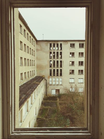 Abandoned Abandoned Buildings Yellow Prora Window IPS2015Architecture Color Palette Colors And Patterns