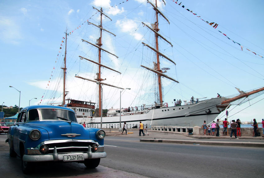 Been There. Havana, Cuba Havanna, Cuba Architecture Car Cuban Cars Day Harbor Havana Street Land Vehicle Mast Mode Of Transport Moored Nautical Vessel Outdoors Real People Sky Transportation