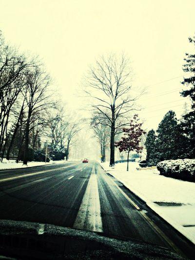Snow road_ On