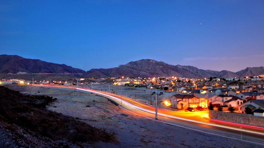 Sunset Sunset Sunset Mountain Long Exposure Light Trails Night Car Lights Clear Sky Need For Speed