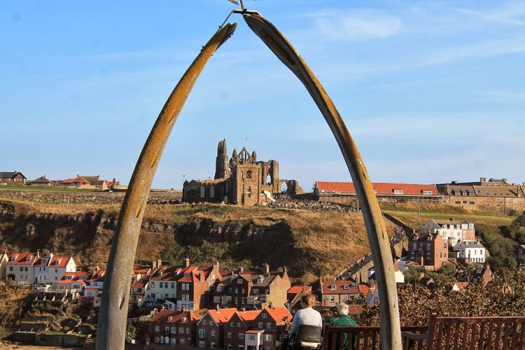 whitby Abbey, through the Whalebone!!